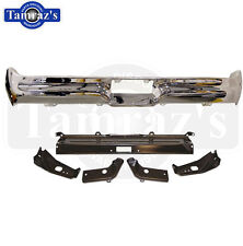 1964 Ford Galaxie Chrome Rear Bumper & 5 pc Bracket Set - Brand New Tooling