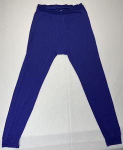 Patagonia USA Vintage Mens Large Blue Capilene Fleece Base Layer Long John Pants