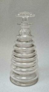 ANTIQUE 19TH CENTURY GLASS BEEHIVE CORDIAL DECANTER 1820-1830