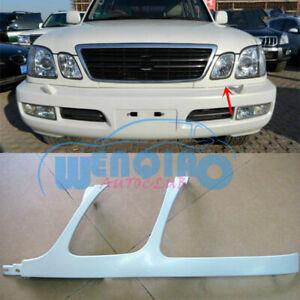 For Lexus LX470 1998-2002 Unpainted Left/Front Bumper Headlight Trim Under Mesh