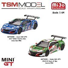 TSM 1:64 MINI GT Acura Honda NSX GT3 Model MGT00051 & MGT00052 Set of (2) Cars