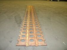 "Military Surplus Pierced Steel Plate (PSP) 120"" Section WWII Temporary Landing"