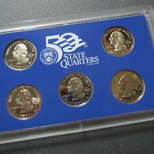 2008   U.S. STATE QUARTERS PROOF SET, 5-COIN SAN FRANCISCO MINT UNCIRCULATED SET