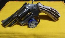 SMITH & WESSON SAMBAR  STAG GRIPS  K FRAME  RND BUTT MATCHED SET