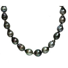 Tahitian South Sea Drop Pearl Necklace  15.5 - 12 mm 14kt clasp