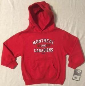 Reebok NHL Montreal Canadiens Youth Hoodie Sweatshirt Small (4) or Medium 5/6
