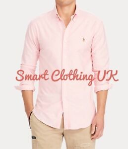 Ralph Lauren Men's Oxford Regular Fit Shirt  (Pink)  RRP £115