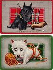 N16 genuine ART DECO swap playing cards ENN comical SCOTTIE & WESTIE DOGS