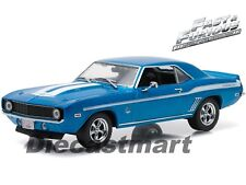 FAST & FURIOUS 1:43 BRIAN'S 1969 CHEVY YENKO CAMARO BLUE BY GREENLIGHT 86206