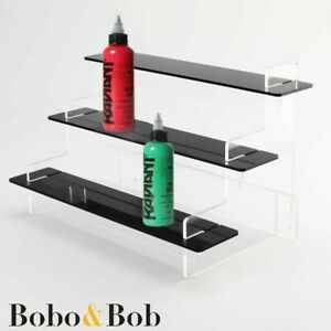 Tattoo Ink Bottle Display Stand - Tiered Acrylic - Studio - Shop - 5 Colours