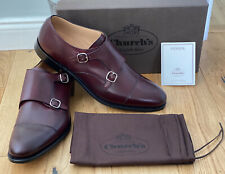 Churchs Detroit Monk Strap Shoes Uk 11F Eu 45 Dark Burgundy New Rrp £410 🇬🇧