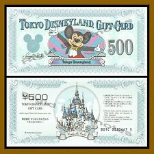 Disney Tokyo 500 Yen Gift Card, Like Disney Dollar Mikey Mouse Old Design Unc