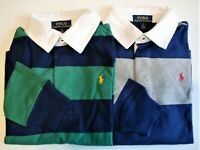 Boys Ralph Lauren Soft Cotton Striped Rugby Shirt - 2 yrs to 18-20yrs