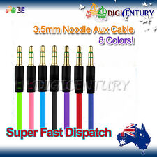 3.5mm Flat Noodle AUX Male to M Audio Cable Cord - iPhone iPod MP3 Samsung Car