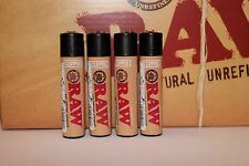 4 pcs New Raw Rolling Papers Refillable Clipper Full Size Lighters Raw Design
