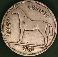 1940 Irish EIRE Ireland Half Crown 2/6 coin, 75% silver *[16541]