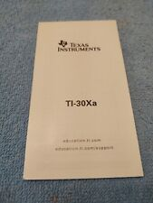 Guide / Instruction Book for Texas Instruments Ti-30Aa Scientific Calculators