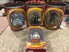 Vintage Rare 2002-03 Lord of the Rings Gollum Aragon Ringwraith Figure & Gandalf