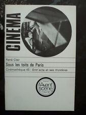 Magazine L'AVANT SCENE CINEMA  281 - Sous les toits de paris - René CLAIR - 1982