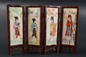 #1925: Japanese Wooden Stone Woman NKSTONE SCREEN kenbyou Calligraphy tool