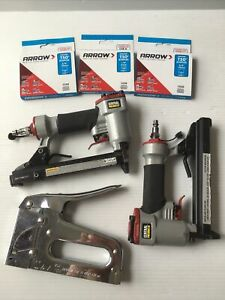 LOT Staple guns T50 Central Pneumatic Arrow upholstery DIY PLEASE READ