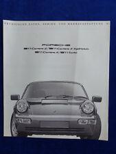 Porsche 911 Typ 964 - Daten & Ausstattungen MJ 1991 - Prospekt Brochure 08.1990