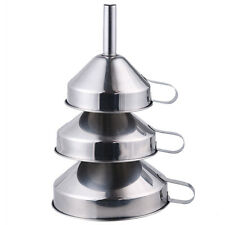 All Size Stainless Steel Liquid Funnel Wide Mouth Kitchen Oil Canning Tool Set