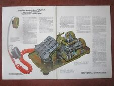11/1971 PUB GENERAL DYNAMICS STROMBERG CARLSON TELEPHONE ORIGINAL AD