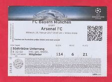 Orig.Ticket   Champions League 2016/17  BAYERN MÜNCHEN - ARSENAL FC  1/8 FINALE