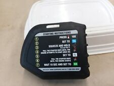 RYOBI Air Filter Cover w/Labels-OEM #308649003 for RY251PH,RY252CS,RY253SS