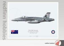 Warhead Illustrated F/A-18A Hornet RAAF 75 Sqn  A21-29 Top Hat Aircraft Print