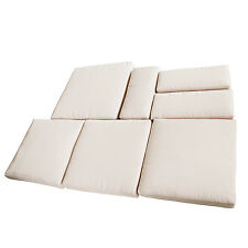 Outsunny 7pc Cream Rattan Garden Wicker Furniture Cushion Cover Replacement New