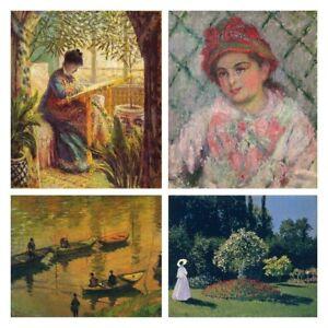 Diamond Painting Kit Claude Monet Portrait Landscape Painting Paint with Diamond
