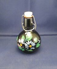 "Hand Painted 5"" Glass Cruet Stopper Bottle"