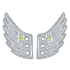 Silver Foil Wings SHWINGS Shoe Accessory Charm - Lace Onto Any Shoes Sneakers