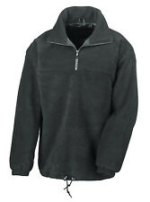 Result Lined Zip Neck Fleece Top Jacket 2 Cols S-xxxl Windproof Warm Womens Mens Black L