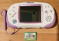 LeapFrog Leapster GS Explorer Learning System Purple White Stylus Pet Pals Game