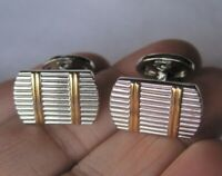 Donald Trump Signature Collection Cufflinks, Rectangular Horizontal Stripe
