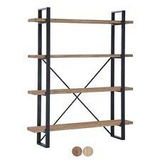 Estanteria baja o alta, libreria salón, mueble comedor, Roble y Negro, Plank