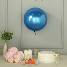 """2 Royal Blue 18"""" wide Round Vinyl Balloons Wedding Birthday Party Decorations"""