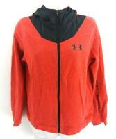 UNDER ARMOUR Boys Hoodie Jacket Youth L Large Red Black Polyester