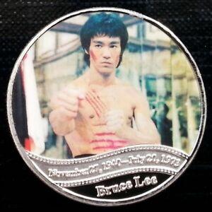 Bruce Lee - Kung Fu - Martial Art - Dragon 1940 - 1973 UNC Commemorative 40mm