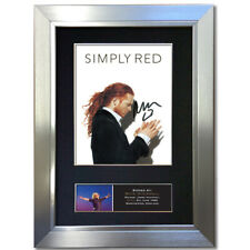 More details for simply red mick hucknall signed autograph mounted reproduction print a4 823