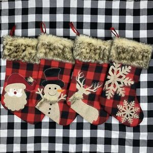 New Year Xmas Tree Ornaments Gift Holders Candy Gift Bags Christmas Stocking