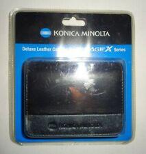"NEW Genuine Deluxe Leather Konica Minolta Dimage Series Case 3"" x4"" w/ Belt Clip"