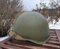 Original Military Helmet SSh 40 Steel WW2 Soviet Army RKKA WWII №2-47 Size 2