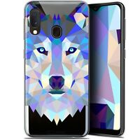 "Coque Gel Pour Samsung Galaxy A20E (5.8"") Extra Fine Polygon Animals - Loup"