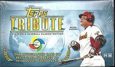 2013 Topps Tribute Factory Sealed WBC Baseball Hobby Box   Rizzo AUTO  ??