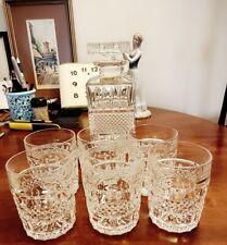 BOHEMIA24% LEAD CRYSTAL WHISKY SET  DECANTER&6 GLASSES