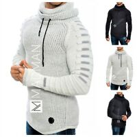 Men Sweater Pullover Turtleneck Knitted 30% Wool Jacket Long Sleeve Thick &Warm